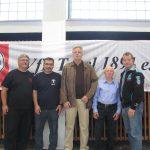 Pfingstcup 2016 v r  Buergermeister und Sportstadtrat  Frank Balzer Ehrenvorsitzender Ringen Schlickeiser VfL Hauptsportwart  Kohlmetz  2 Vors Ringen Harut 1 Vors Fuentes