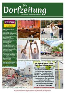 Titelseite des Magazins Die Dorfzeitung Reinickendorf Juli 2020