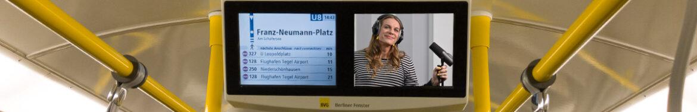 Philippa Jarke ist die neue Stimme der BVG, die künftig Haltestellen-Namen und Störungen ansagt.