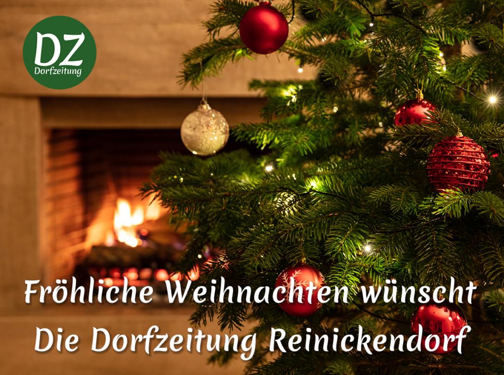 Fröhliche Weihnachten wünscht die Dorfzeitung Reinickendorf.