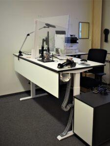 Ein neuer Arbeitsplatz im Reinickendorfer Bürgeramt. Bild: BA Reinickendorf